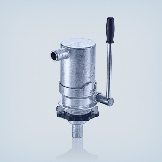"Heating oil hand pump R 1 1/2"" in metal design"