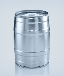 Party keg 5 litre silver without integrated tap