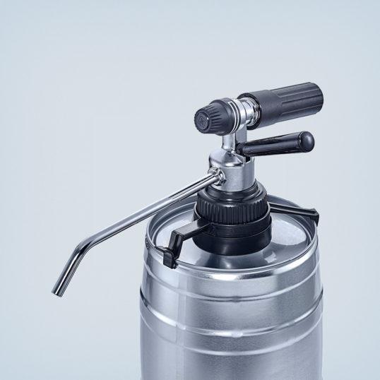 Kohlensäure-Bierzapfgerät für 5-Liter-Partyfässer in Metallausführung