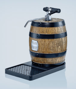 Tabletop dispenser de luxe with plastic cooling barrel