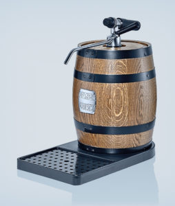 Tabletop dispenser oak wood elegance with wood barrrel
