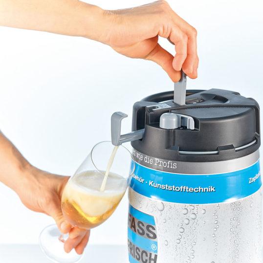 Top Keg 5 Liter gefüllt mit Bier aus unserer Region
