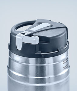 Top keg 5 litre silver/black/grey with CO² control