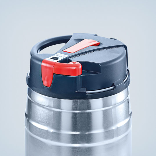 Top keg 5 litre silver/black/red with CO² control