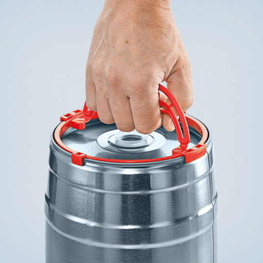Carrier handle red for party keg
