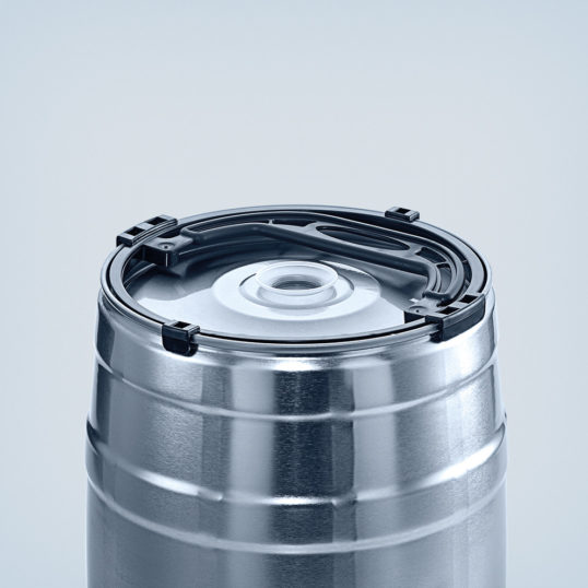 Carrier handle black for party keg