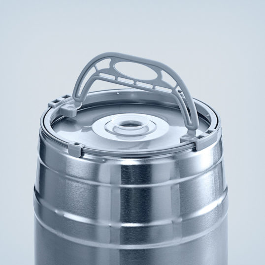 Carrier handle grey for party keg