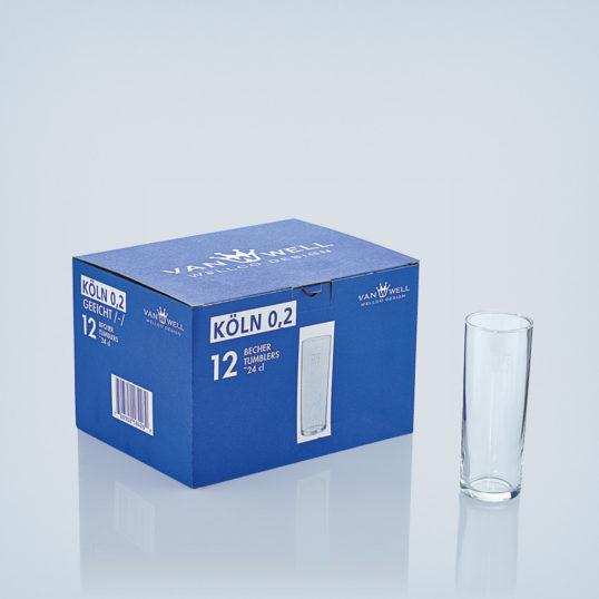Set of 12 Kölsch glasses 0.2 liters